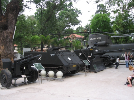 American tanks from the War Remnants Museum, Ho Chi Minh City